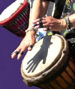 hands, drums